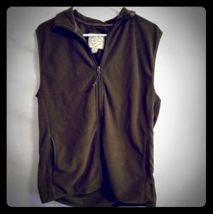 St. John's Bay Small Olive Drab Fleece Vest